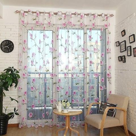 Window Privacy Curtains Sheer Panels, Paris