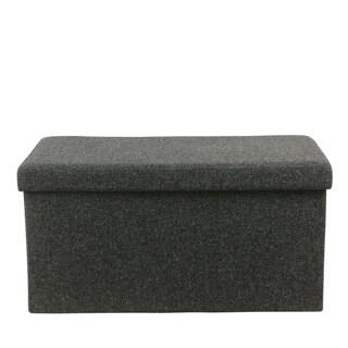 HomePop Dark-grey Collapsible Storage Bench