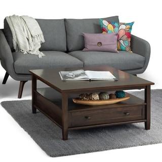 Copper Grove Buren 36-inch Square Rustic Wood Coffee Table - 36 x 36 x 18.5