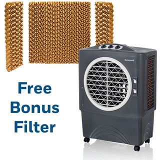 1062 CFM Indoor/Outdoor Evaporative Air Cooler (Swamp Cooler) with Mechanical Controls in Gray with Bonus Replacement Filters