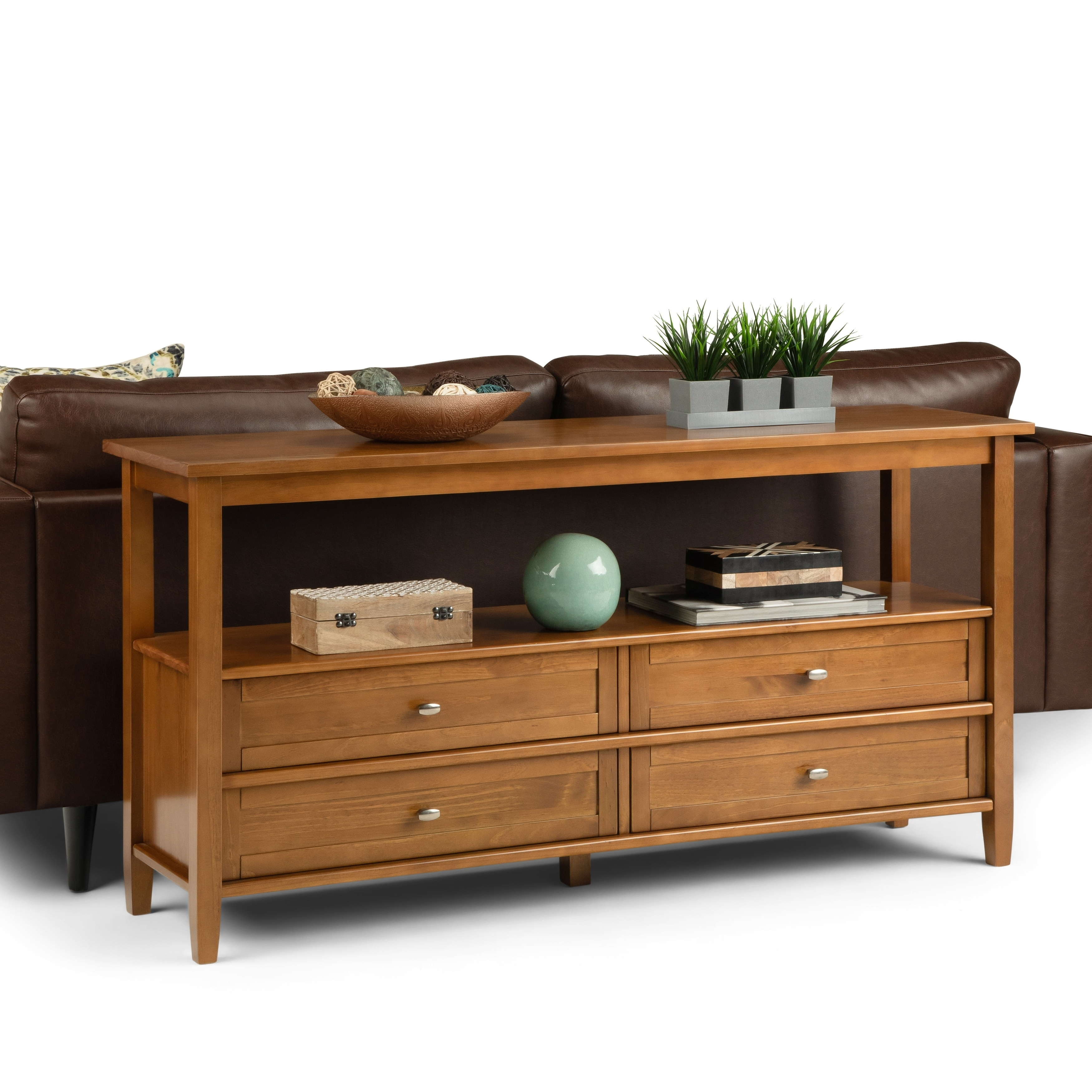 Wyndenhall Norfolk Solid Wood 60 Inch Wide Rustic Wide Console Sofa Table 60 X 16 X 30 60 X 16 X 30 On Sale Overstock 27759185