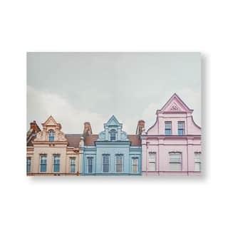 Pretty Pastel Skyline Canvas Wall Art