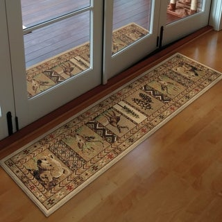 Orian High Country Bisque Area Rug - 1'11 x 7'5