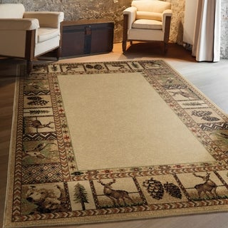 Orian High Country Bisque Area Rug - 5'3 x 7'6