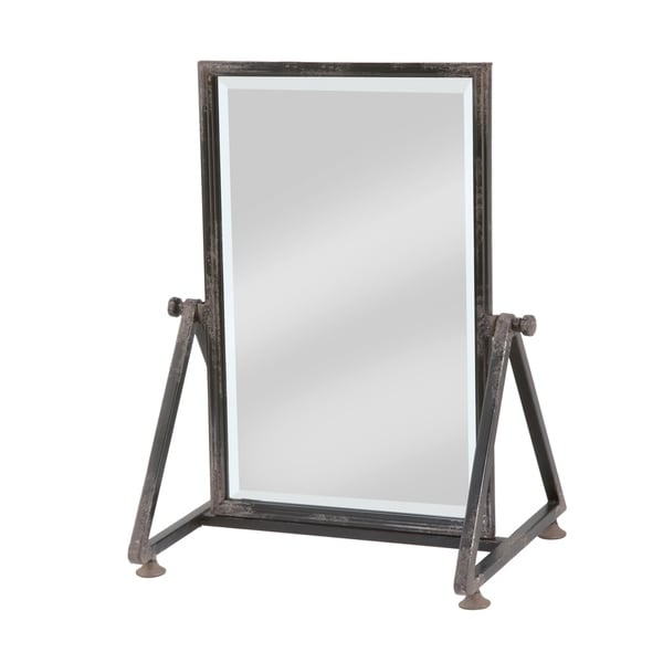 Large Metal Frame Tabletop Mirror