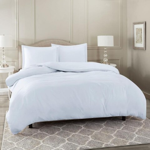 Nestl Bedding Ultra Soft Comforter Cover with Button Closure and Pillow Shams.