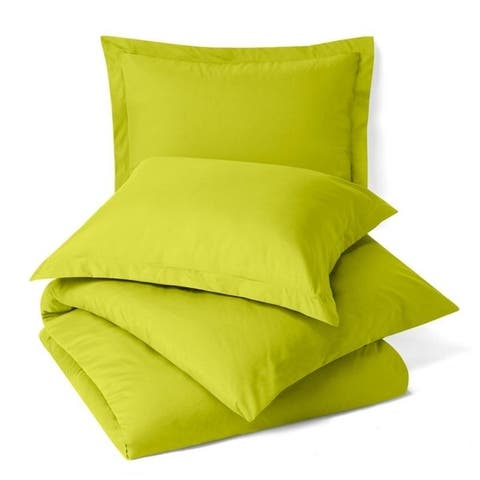 Nestl Bedding Buttoned Comforter Cover and Pillow Sham Set