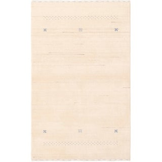 eCarpetGallery  Hand-knotted Kashkuli Gabbeh Cream Wool Rug - 3'1 x 5'0