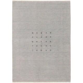 eCarpetGallery  Hand-knotted Kashkuli Gabbeh Light Blue  Wool Rug - 5'9 x 7'10
