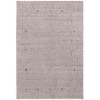 eCarpetGallery  Hand-knotted Kashkuli Gabbeh Grey Wool Rug - 6'2 x 9'0