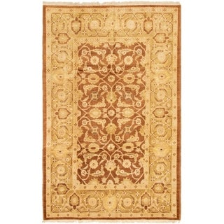 eCarpetGallery  Hand-knotted Chobi Finest Brown Wool Rug - 6'0 x 9'6