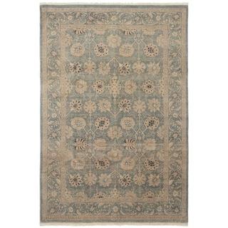 eCarpetGallery  Hand-knotted Peshawar Oushak Light Blue  Wool Rug - 6'1 x 9'0