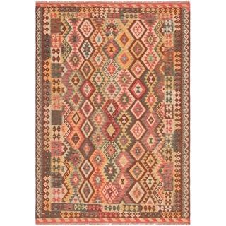 eCarpetGallery  Flat-weave Hereke FW Red Wool Kilim - 6'11 x 10'1