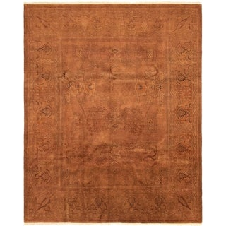 eCarpetGallery  Hand-knotted Vibrance Brown Wool Rug - 8'4 x 10'2