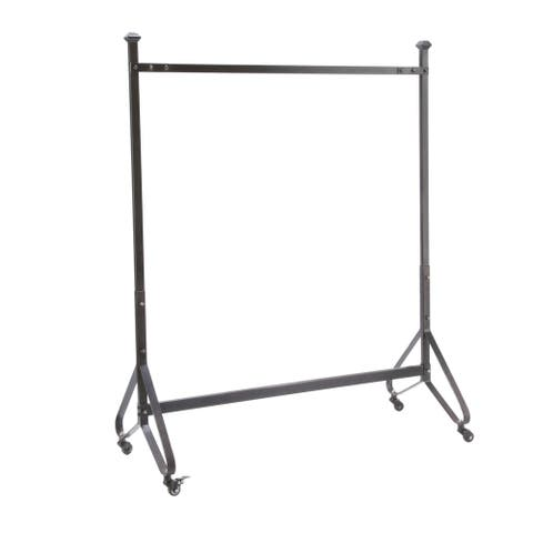 Garment Rack Black with Casters
