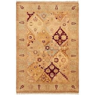 eCarpetGallery  Hand-knotted Peshawar Oushak Beige Wool Rug - 6'3 x 9'0