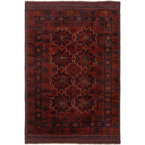 eCarpetGallery Hand-knotted Finest Rizbaft Copper Wool Rug - 9'4 x 6'4