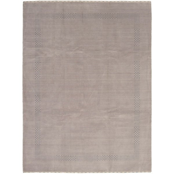 eCarpetGallery Hand-knotted Kashkuli Gabbeh Light Grey Wool Rug - 9'2 x 12'1