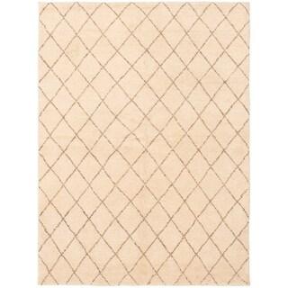 eCarpetGallery  Hand-knotted Arlequin Cream Wool Rug - 5'3 x 6'10