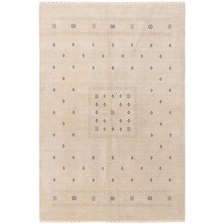 eCarpetGallery  Hand-knotted Kashkuli Gabbeh Light Denim Blue Wool Rug - 6'0 x 8'10