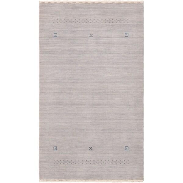 eCarpetGallery Hand-knotted Kashkuli Gabbeh Light Blue Wool Rug - 3'0 x 5'2