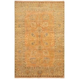 eCarpetGallery Hand-knotted Peshawar Oushak Orange Wool Rug - 5'10 x 9'2