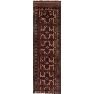 eCarpetGallery  Hand-knotted Tajik Caucasian Cream, Red Wool Rug - 2'9 x 11'9