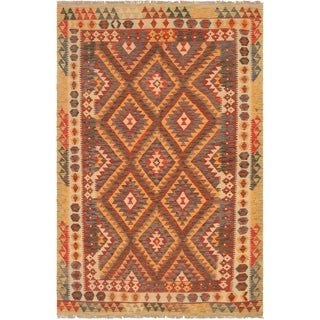 eCarpetGallery  Flat-weave Kashkoli FW Red Wool Kilim - 5'3 x 7'10