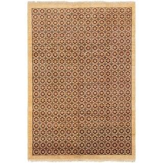 eCarpetGallery  Hand-knotted Chobi Finest Cream Wool Rug - 5'10 x 8'7