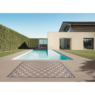 Festival Indoor/Outdoor Rugs Flatweave Contemporary Patio, Pool, Camp and Picnic Carpets FW 550 Dark Blue 4' x 6' - 4' x 6'