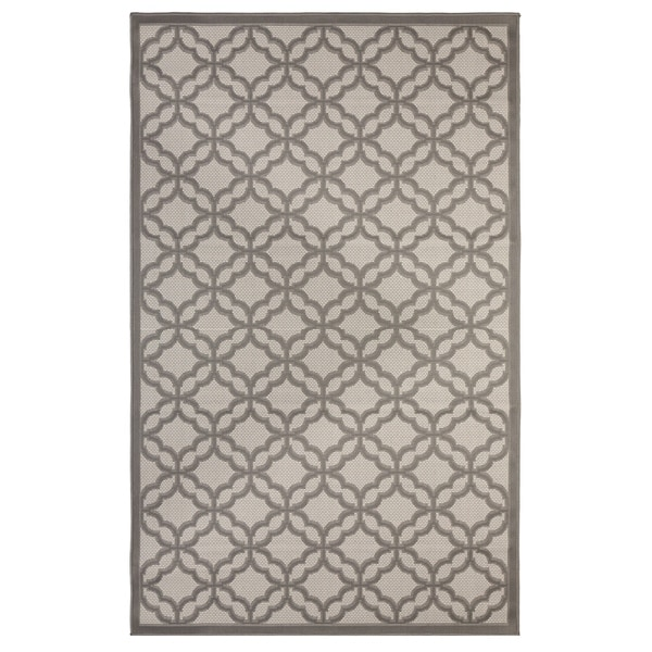 Festival Indoor/Outdoor Rugs Flatweave Contemporary Patio, Pool, Camp and Picnic Carpets FW 550 Gray 5' x 8' - 5' x 8'