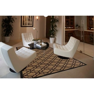Festival Indoor/Outdoor Rugs Flatweave Contemporary Patio, Pool, Camp and Picnic Carpets FW 550 Black 4' x 6' - 4' x 6'