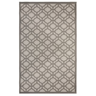 Festival Grey Indoor/Outdoor Flatweave Contemporary Patio, Pool, Camp, and Picnic Area Rug - 9' x 12'