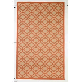 Festival Indoor/Outdoor Rugs Flatweave Contemporary Patio, Pool, Camp and Picnic Carpets FW 550 Coral 4' x 6' - 4' x 6'