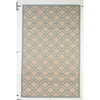 Festival Indoor/Outdoor Rugs Flatweave Contemporary Patio, Pool, Camp and Picnic Carpets FW 550 Light Blue 4' x 6' - 4' x 6'