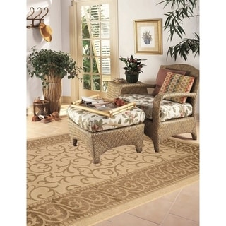 Key West Indoor/Outdoor Rugs Flatweave Contemporary Patio, Pool, Camp and Picnic Carpets FW 586 Beige 5' x 8' - 5' x 8'