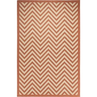 Chevron Indoor/Outdoor Rugs Flatweave Contemporary Patio, Pool, Camp and Picnic Carpets FW 801 Coral 2' x 3.6' - 2' x 3.6'