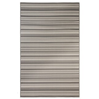Stripes Indoor/Outdoor Rugs Flatweave Contemporary Patio, Pool, Camp and Picnic Carpets FW 575 Light Gray 2' x 3.6' - 2' x 3.6'