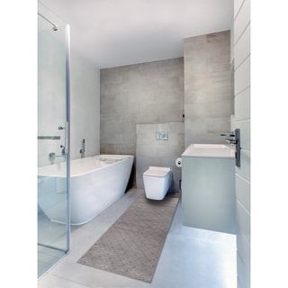 "Bath 1-set 24x60"" Newruz Print Mat Absorbent Soft Kitchen Floor Area Rug Non-slip Carpet Brown-Taupe - 2' x 5'"