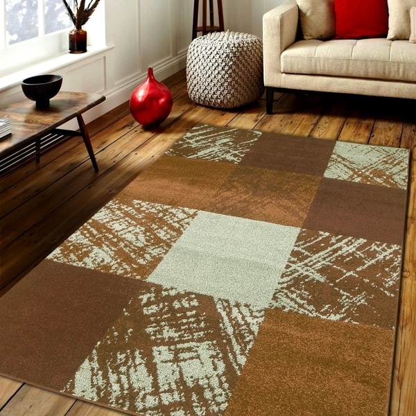 Caramel Drizzle Area rug MNC 600 Brown 5' x 7' - 5' x 7'