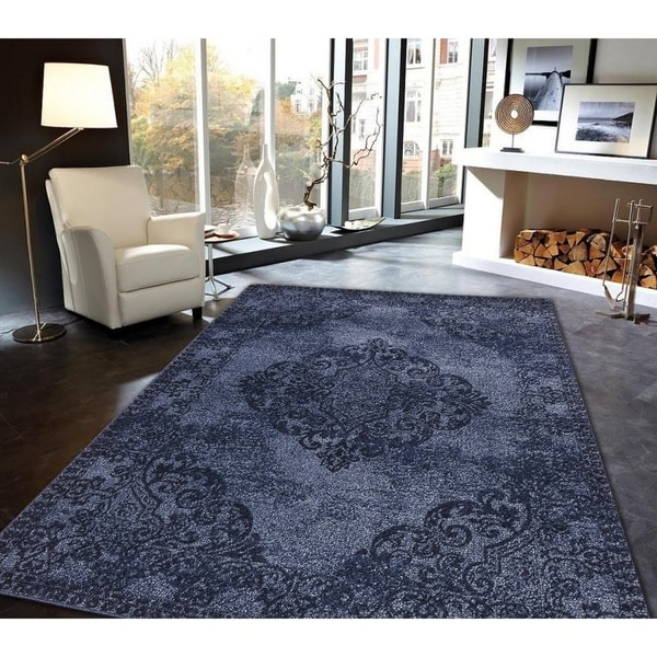 Hena Glory Area Rug MNC 500 Blue 8' x 10' - 8' x 10'