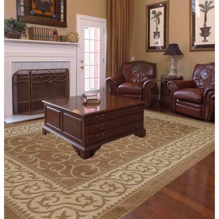 Key West Indoor/Outdoor Rugs Flatweave Contemporary Patio, Pool, Camp and Picnic Carpets FW 586 Gold 4' x 6' - 4' x 6'
