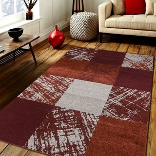 Caramel Drizzle Area rug MNC 600 Red 5' x 7' - 5' x 7'