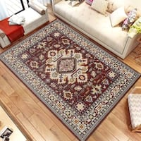 Persian Style Traditional Oriental Medallion Area Rug KLM 250 Brown 3' x 5' - 3' x 5'