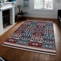 Persian Style Traditional Oriental Medallion Area Rug KLM 750 Red 3' x 5' - 3' x 5'