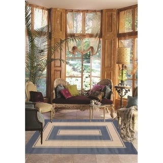 Cottage Indoor/Outdoor Rugs Flatweave Contemporary Patio, Pool, Camp and Picnic Carpets FW 532 Dark Blue 2' x 3.6' - 2' x 3.6'