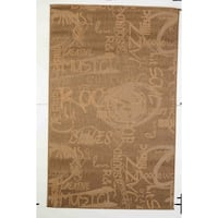 Jazz Indoor/Outdoor Rugs Flatweave Contemporary Patio, Pool, Camp and Picnic Carpets FW 546 Gold 2.4' x 7' - 2.4' x 7'
