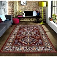 Persian Style Traditional Oriental Medallion Area Rug KLM 50 Blue 3' x 5' - 3' x 5'