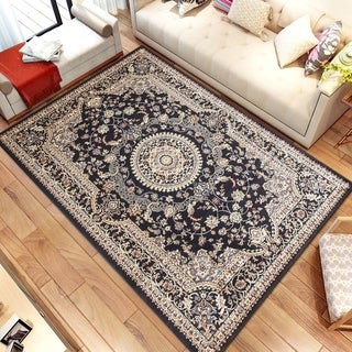 Persian Style Traditional Oriental Medallion Area Rug Empire 900 Beige 8' x 10' - 8' x 10'