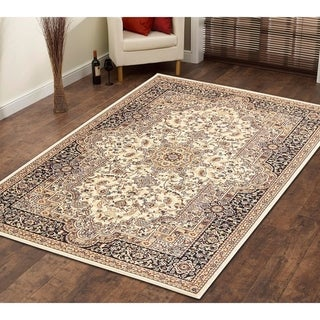 Persian Style Traditional Oriental Medallion Area Rug Empire 450 Beige 8' x 10' - 8' x 10'